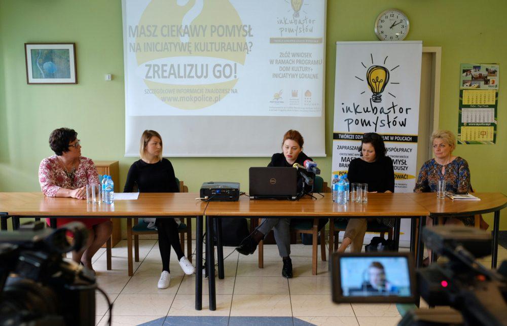 """Konferencja prasowa i diagnoza – """"Inkubator Pomysłów – Twórcze Działania Lokalne w Policach"""""""